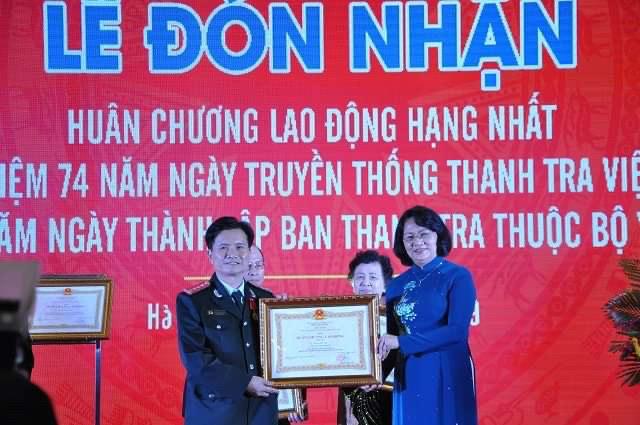Thanh tra Bộ Y tế đón nhận Huân chương Lao động hạng Nhất
