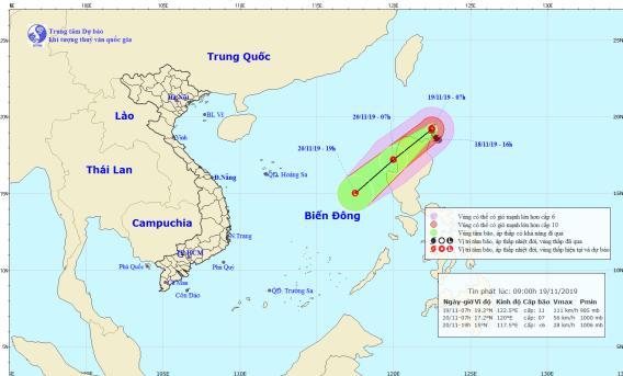 Thông báo cho chủ các phương tiện tàu, thuyền biết diễn biến của bão và gió mùa Đông Bắc