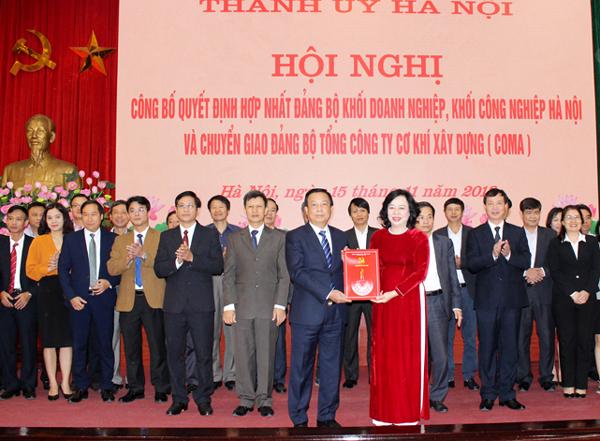 Một số vấn đề đặt ra khi hợp nhất Đảng bộ Khối doanh nghiệp Hà Nội với Khối công nghiệp Hà Nội