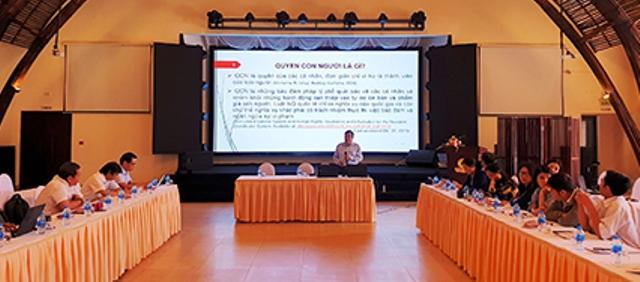 Tập huấn nghiệp vụ cho cán bộ thông tin các địa phương có đường biên giới với Lào