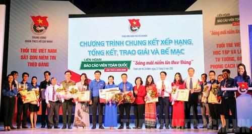 Thí sinh từ Tỉnh đoàn Quảng Trị đạt giải nhất Hội thi Báo cáo viên toàn quốc 2019