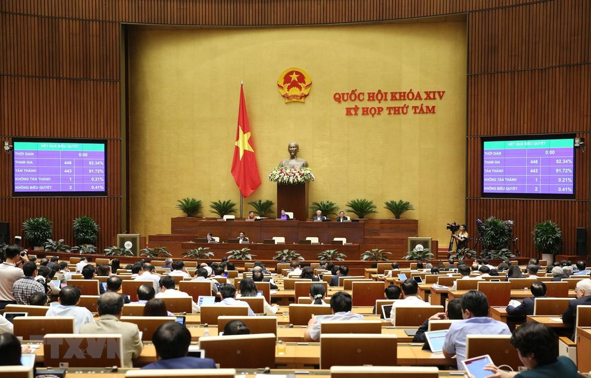 Tuần cuối Kỳ họp thứ 8, Quốc hội biểu quyết, thông qua nhiều Luật