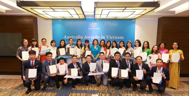 Australia trao tặng 50 suất học bổng thạc sĩ cho học viên Việt Nam