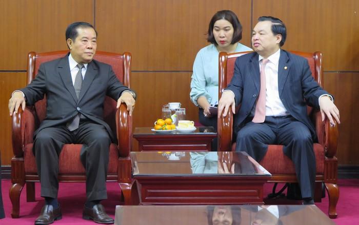 Việt Nam - Lào tăng cường hợp tác công tác Tuyên giáo