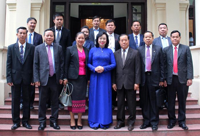Tăng cường quan hệ công tác Tuyên giáo giữa Thủ đô Hà Nội - Viêng Chăn