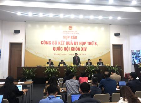 Kỳ họp thứ 8, Quốc hội khóa XIV hoàn thành chương trình đề ra