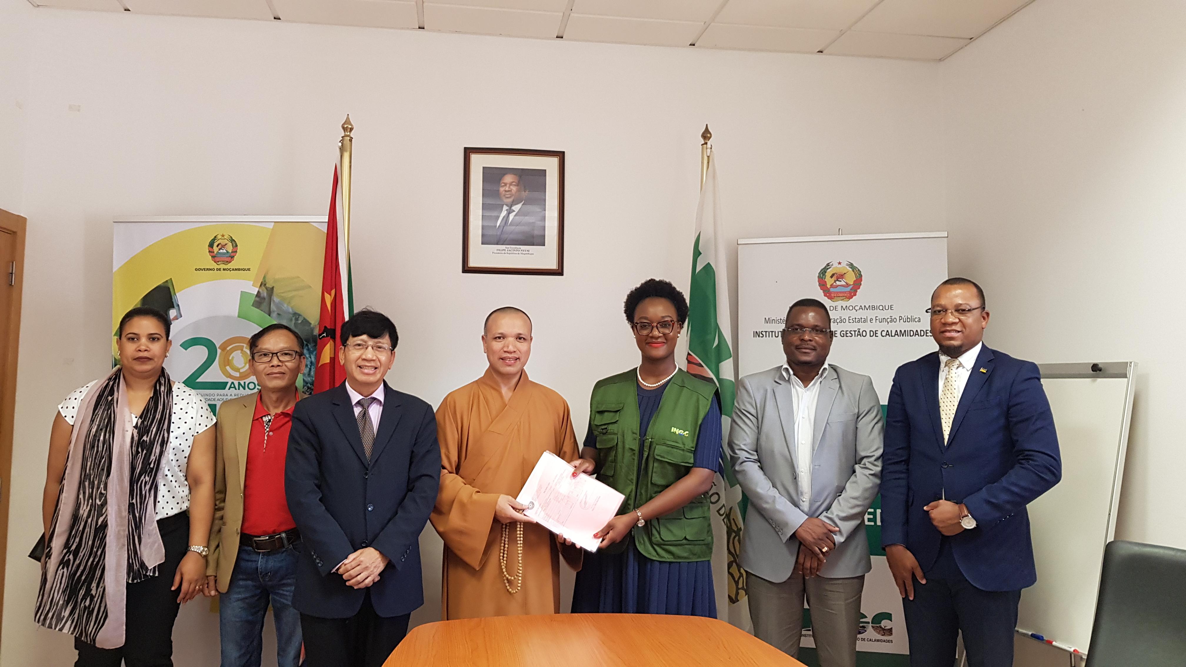 Mozambique đánh giá cao sự hỗ trợ từ thiện của Giáo hội Phật giáo Việt Nam