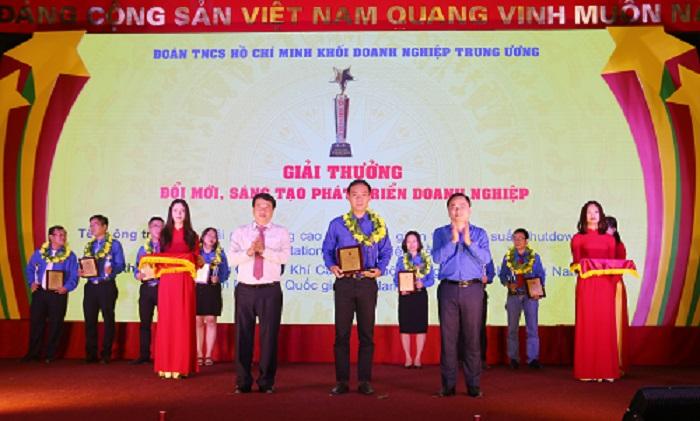 """Công trình của tuổi trẻ PV GAS được trao giải thưởng """"Đổi mới, sáng tạo phát triển doanh nghiệp lần thứ I"""""""