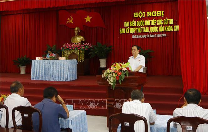 Đồng chí Trần Thanh Mẫn tiếp xúc cử tri Cần Thơ