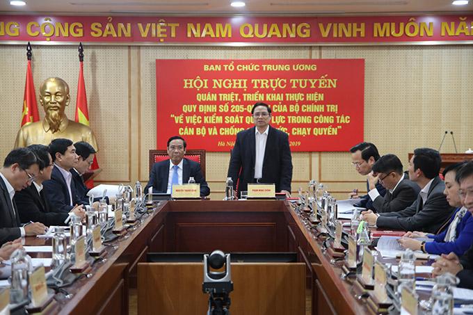 Ngành Tổ chức Xây dựng Đảng triển khai Quy định về kiểm soát quyền lực và chống chạy chức, chạy quyền