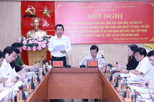 Kiểm tra việc giải quyết tố giác, tin báo về tội phạm trật tự quản lý kinh tế, chức vụ tại Quảng Ngãi