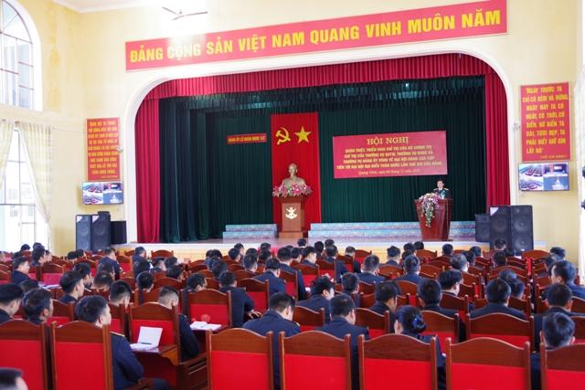 Quán triệt, triển khai Chỉ thị của Bộ chính trị và Thường vụ Quân ủy Trung ương về đại hội đảng các cấp