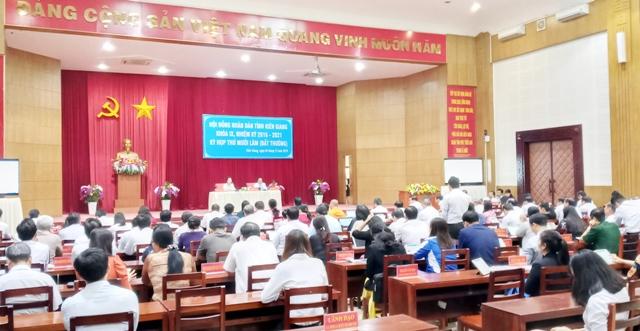 Kiên Giang Triển khai kỳ họp Hội đồng nhân dân tỉnh bất thường thông qua nhiều nghị quyết quan trọng