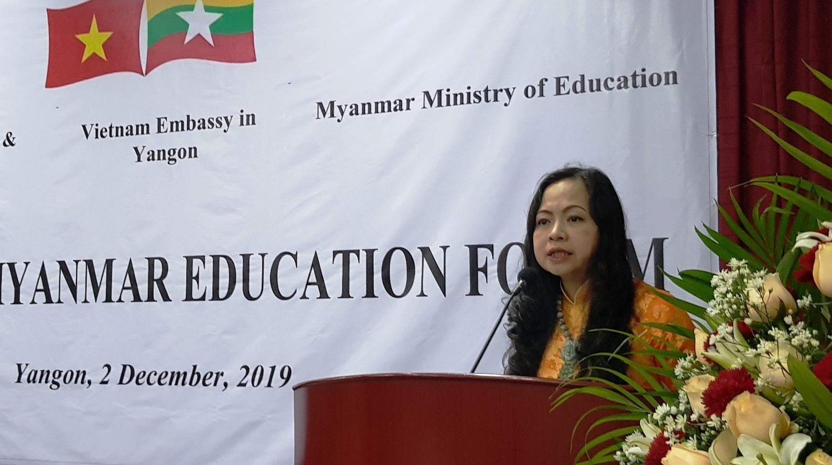 Thúc đẩy quan hệ hợp tác giáo dục đào tạo giữa Việt Nam – Myanmar