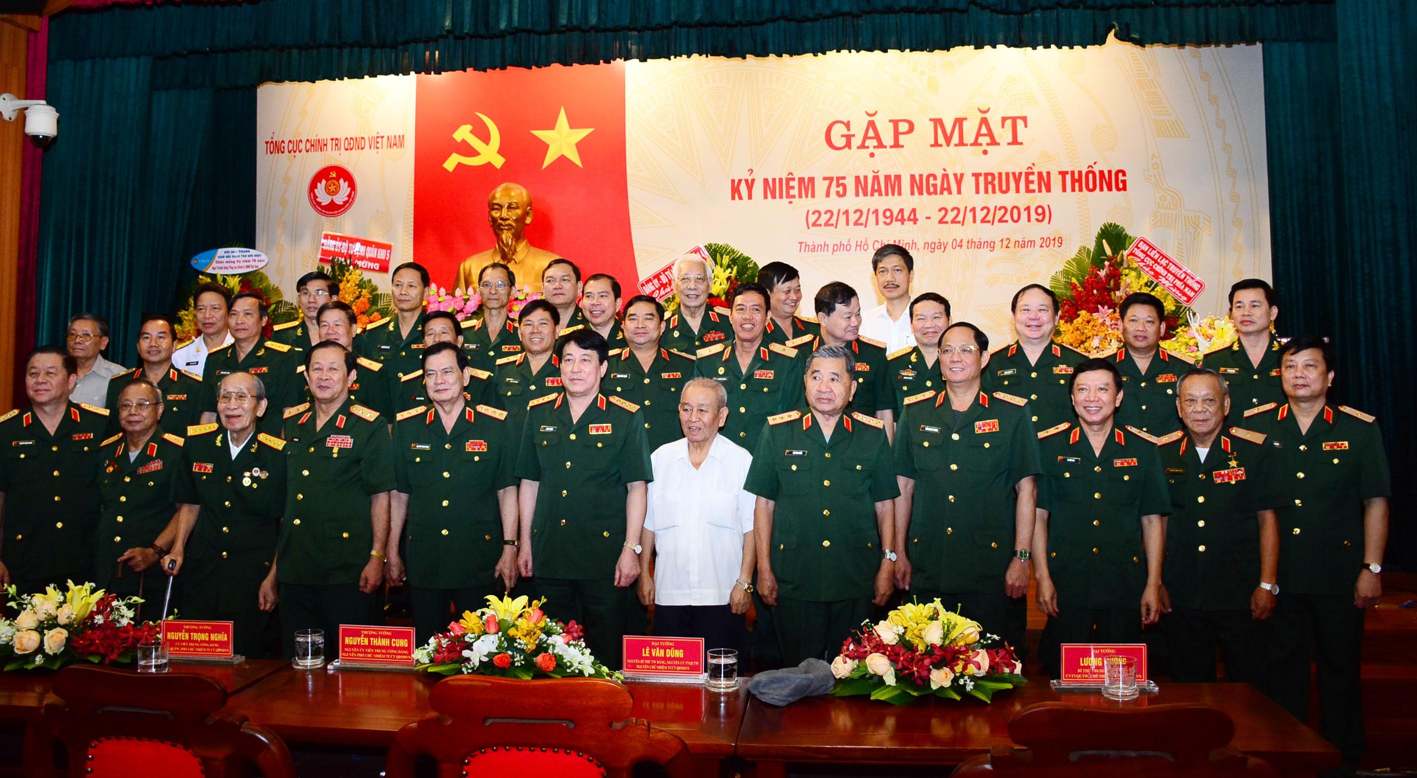 Tổng cục Chính trị gặp mặt kỷ niệm 75 năm ngày truyền thống  