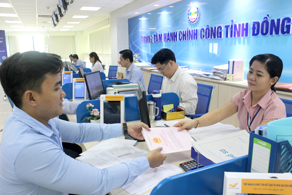 Trung tâm Hành chính công tỉnh Đồng Nai Tỷ lệ hồ sơ giải quyết đúng hạn đạt 97,7