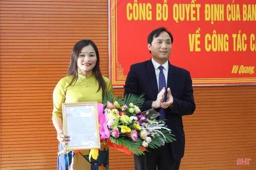 Phó Trưởng ban Tuyên giáo Tỉnh uỷ Hà Tĩnh làm Bí thư Huyện uỷ Vũ Quang