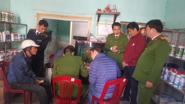 Nam Định Phát hiện vụ bán hóa chất cấm sử dụng
