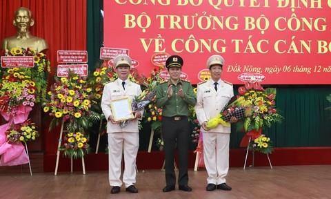 Bổ nhiệm Giám đốc Công an tỉnh Đắk Lắk và Đắk Nông