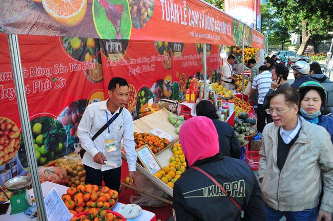 Tuần lễ cam và nông sản Hưng Yên đến với người tiêu dùng