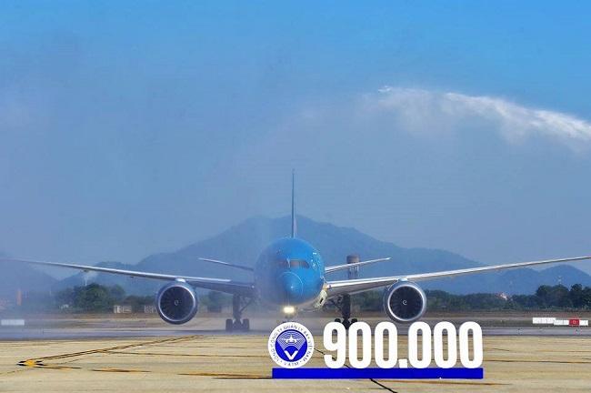 Tổng công ty Quản lý bay Việt Nam Chào mừng điều hành chuyến bay thứ 900 000