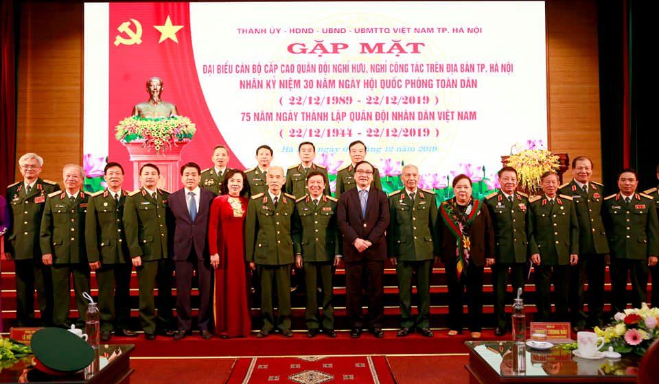 Hà Nội Gặp mặt đại biểu cán bộ cấp cao quân đội nghỉ hưu, nghỉ công tác
