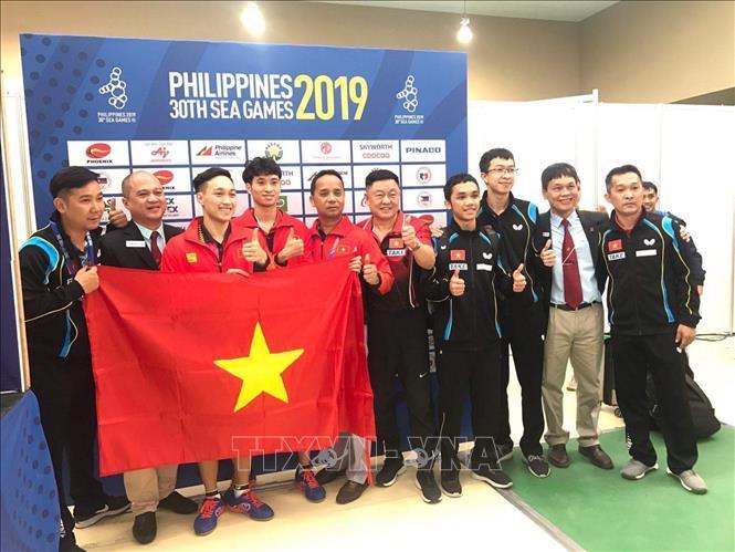 SEA Games 30 Bóng bàn Việt Nam có tấm Huy chương Vàng lịch sử