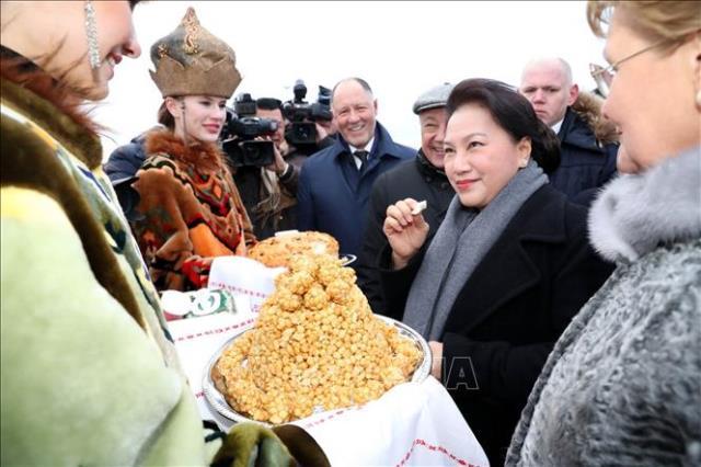 Đồng chí Nguyễn Thị Kim Ngân bắt đầu thăm chính thức LB Nga