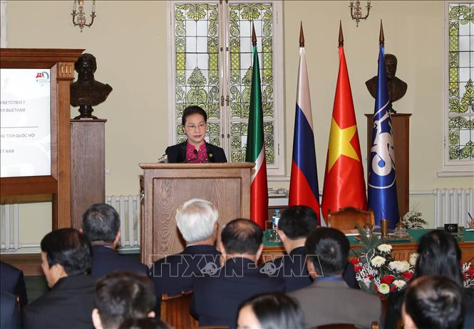 Đồng chí Nguyễn Thị Kim Ngân thăm trường Đại học Tổng hợp Liên bang Kazan