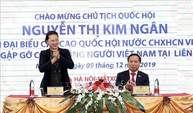 Chủ tịch Quốc hội Nguyễn Thị Kim Ngân thăm, gặp gỡ cộng đồng người Việt Nam tại Liên bang Nga