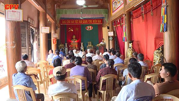 Phát huy vai trò của đảng viên người cao tuổi ở huyện Tiền Hải, tỉnh Thái Bình