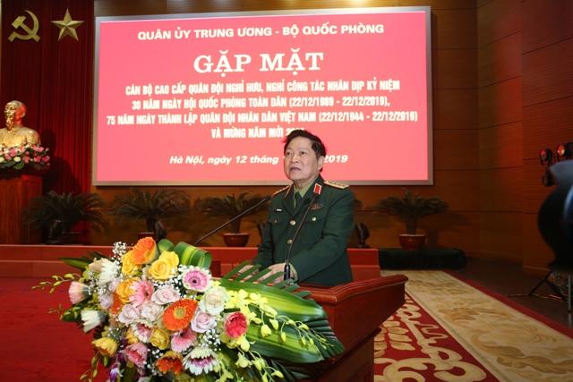 Gặp mặt đại biểu cán bộ cao cấp Quân đội nghỉ hưu, nghỉ công tác khu vực phía Bắc