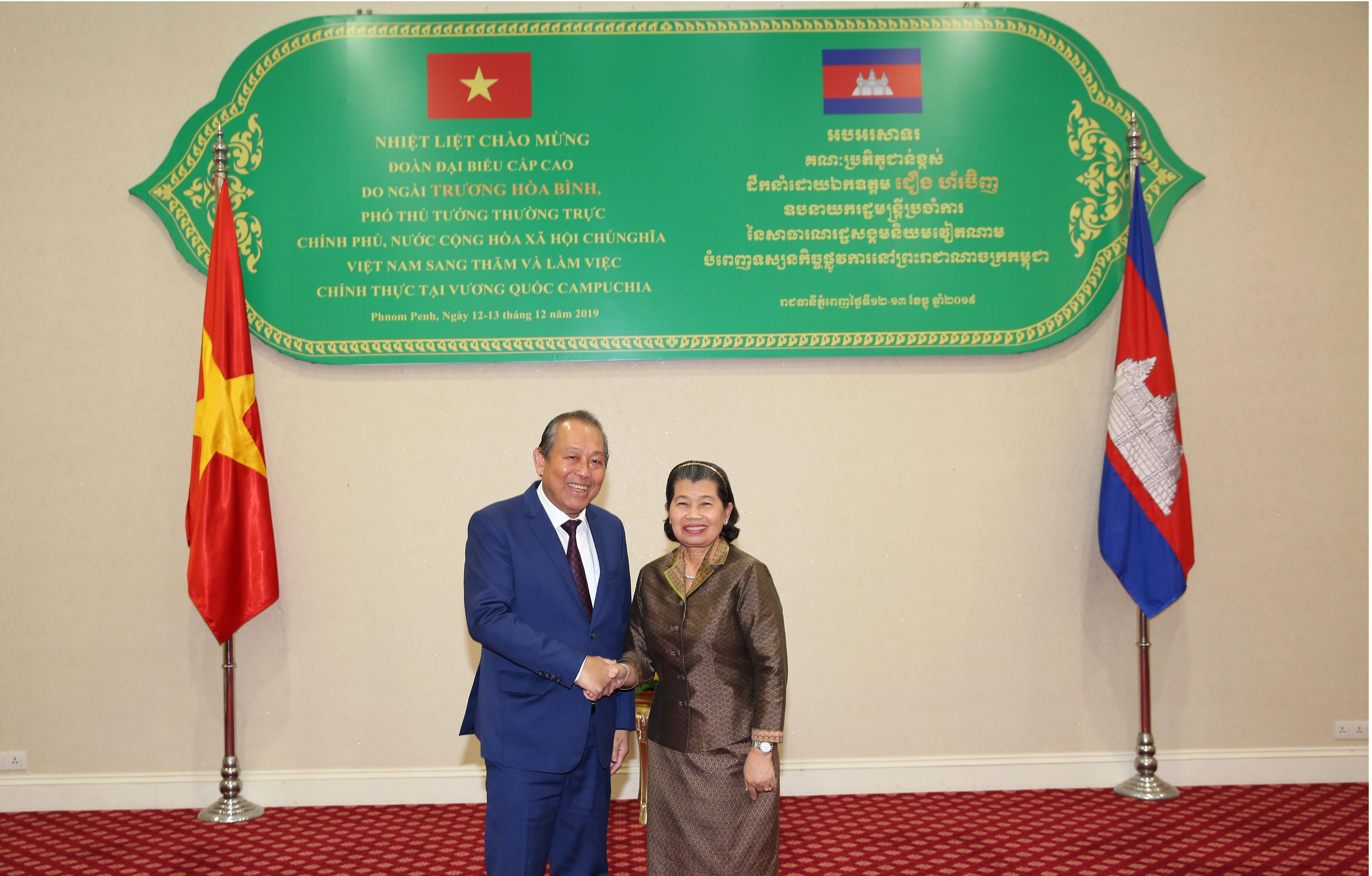 Phó Thủ tướng Thường trực Chính phủ Trương Hòa Bình thăm Vương quốc Campuchia