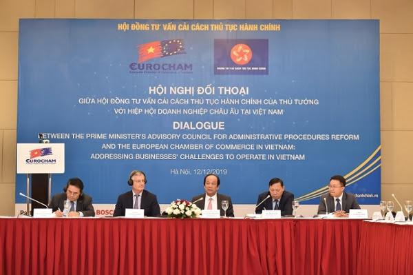 Hội nghị đối thoại với Hiệp hội doanh nghiệp châu Âu tại Việt Nam