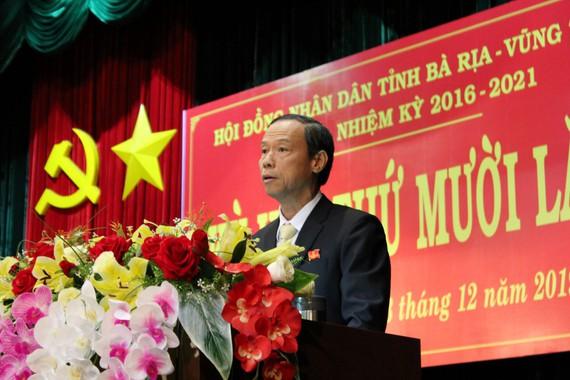 Đồng chí Nguyễn Văn Thọ giữ chức Chủ tịch UBND tỉnh Bà Rịa – Vũng Tàu