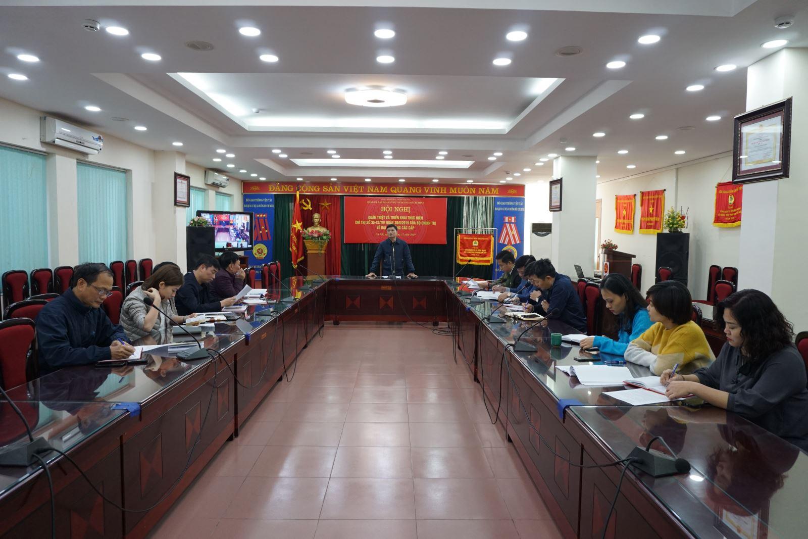 Ban QLDA đường Hồ Chí Minh quán triệt và triển khai thực hiện Chỉ thị số 35-CT TW