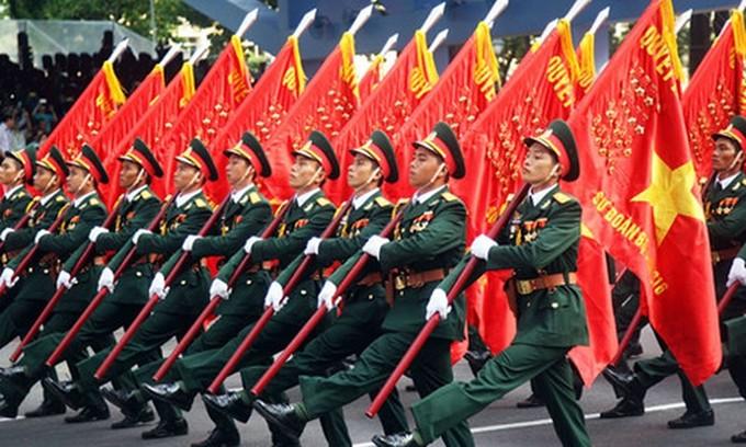 75 năm Quân đội nhân dân Việt Nam anh hùng vững bước dưới lá cờ vinh quang của Đảng