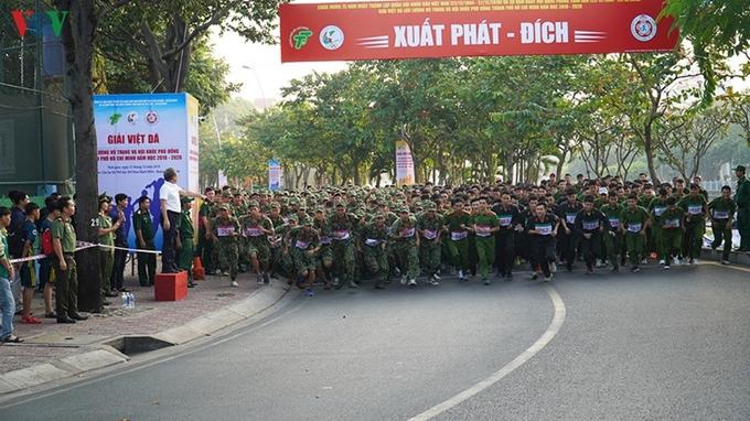 TP Hồ Chí Minh Gần 2 000 vận động viên tham gia Giải Việt dã lực lượng vũ trang