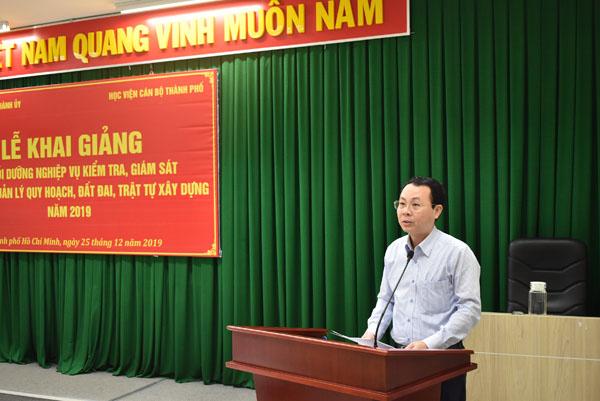 TP Hồ Chí Minh Bồi dưỡng kiến thức về kiểm tra, giám sát quản lý quy hoạch, đất đai
