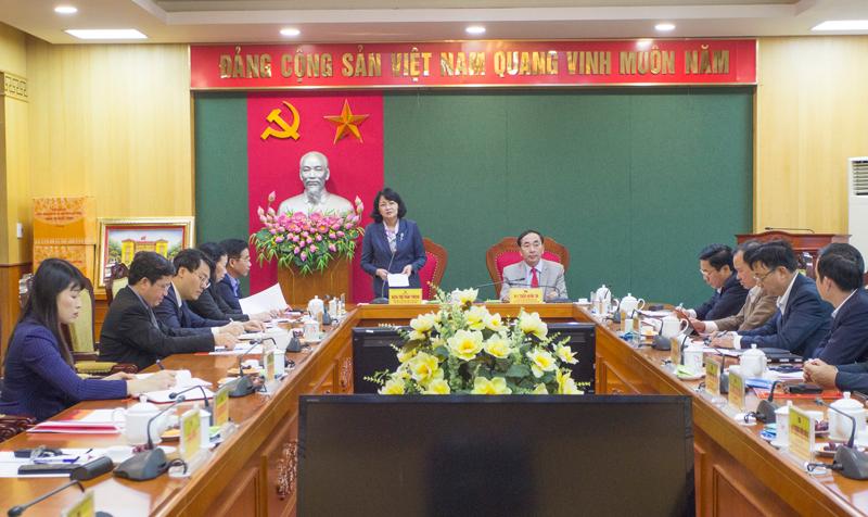Phó Chủ tịch nước Đặng Thị Ngọc Thịnh thăm và làm việc tại Thái Nguyên