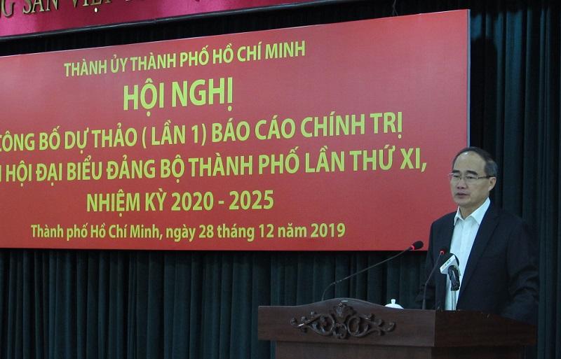 Công bố Dự thảo lần 1 Báo cáo chính trị Đại hội đại biểu Đảng bộ TP Hồ Chí Minh lần thứ XI