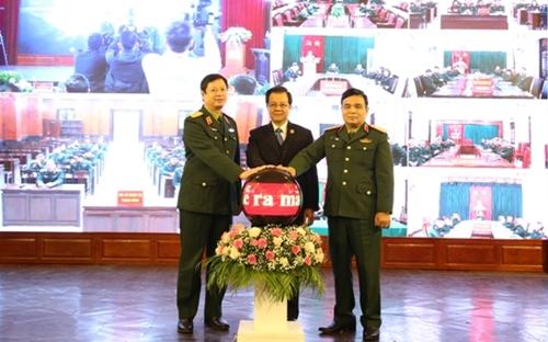 Khai trương hệ thống truyền hình hội nghị trực tuyến đến Tòa án quân sự các cấp
