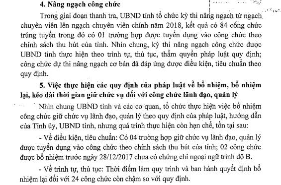 Công bố kết luận thanh tra việc tuyển dụng, quản lý công chức của tỉnh Phú Thọ