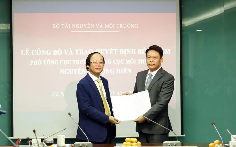 Đồng chí Nguyễn Thượng Hiền giữ chức Phó Tổng cục trưởng Tổng cục Môi trường