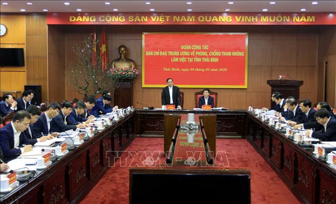 Đoàn công tác Ban chỉ đạo Trung ương về phòng, chống tham nhũng làm việc tại Thái Bình