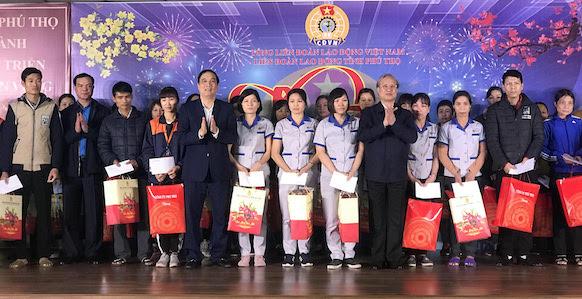 Đồng chí Trần Quốc Vượng dự Tết Sum vầy với công nhân, lao động tại tỉnh Phú Thọ