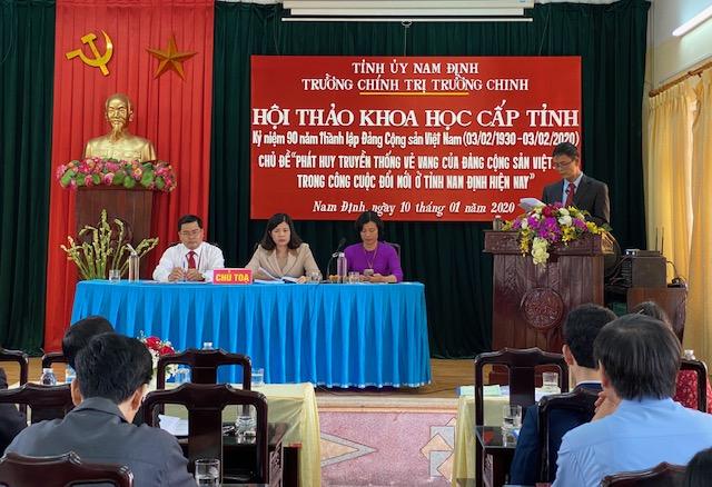 Phát huy truyền thống vẻ vang của Đảng trong công cuộc đổi mới ở tỉnh Nam Định hiện nay