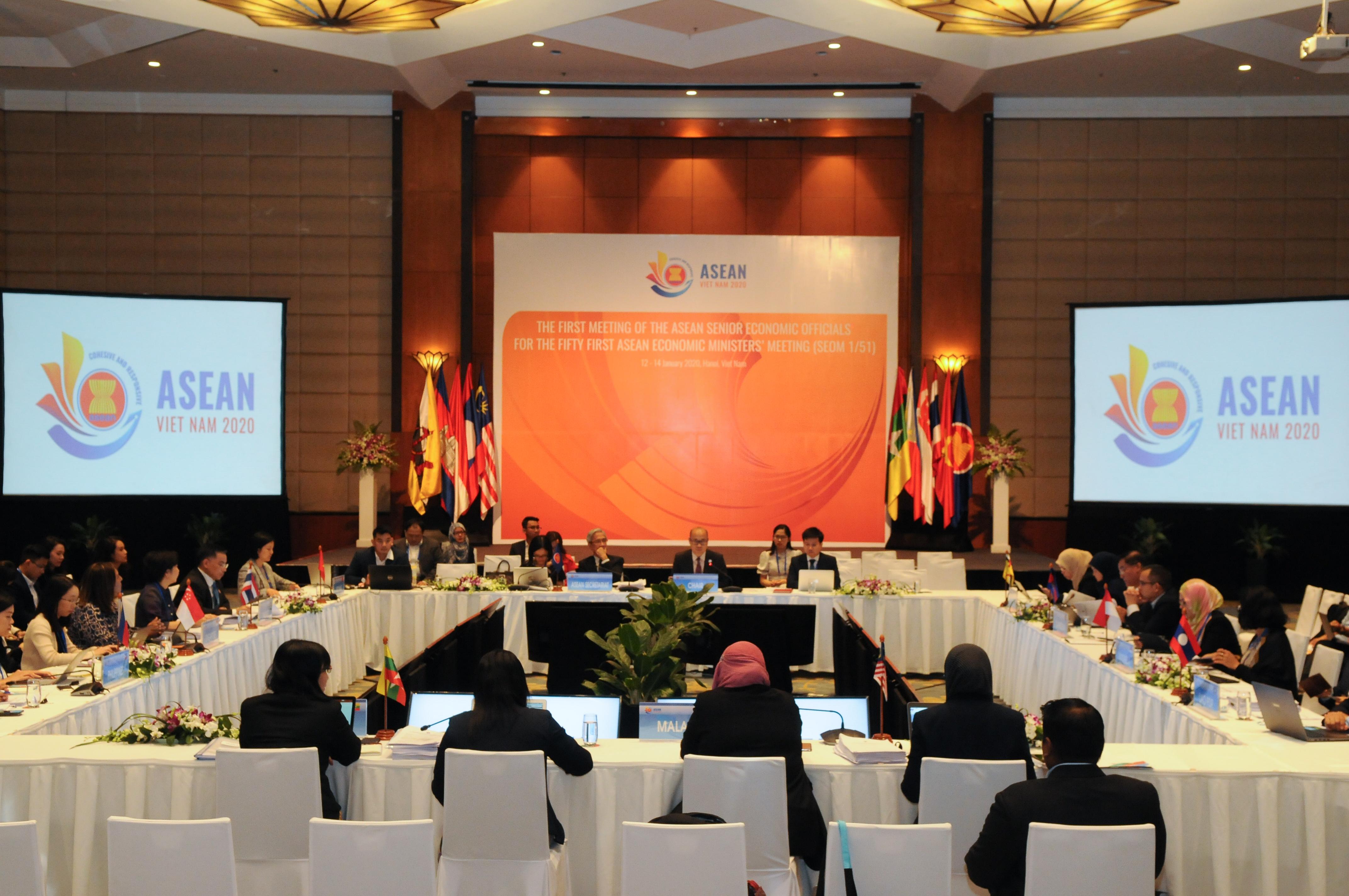 Hội nghị các Quan chức Kinh tế Cao cấp ASEAN lần thứ nhất năm 2020 SEOM 1 51