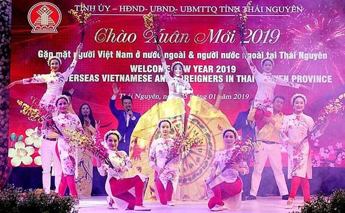 Gặp mặt kiều bào và người nước ngoài tại Thái Nguyên Xuân Canh Tý