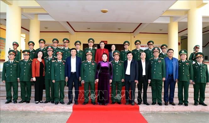 Chủ tịch Quốc hội Nguyễn Thị Kim Ngân chúc Tết tại Bộ chỉ huy Quân sự tỉnh Đắk Lắk
